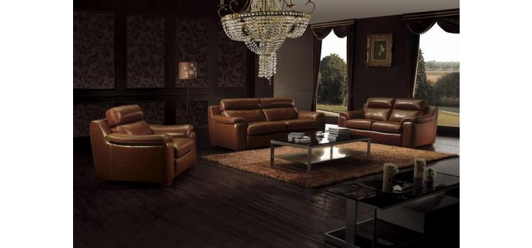 BO3936 Modern Brown leather living room furniture