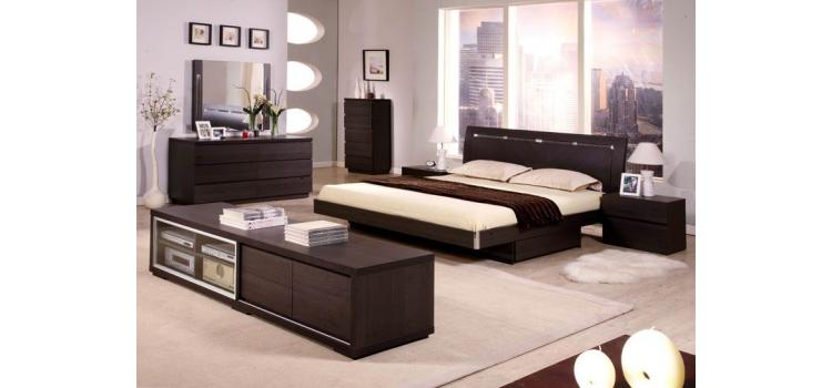 Capri Modern Bed Group with Storage 5pc