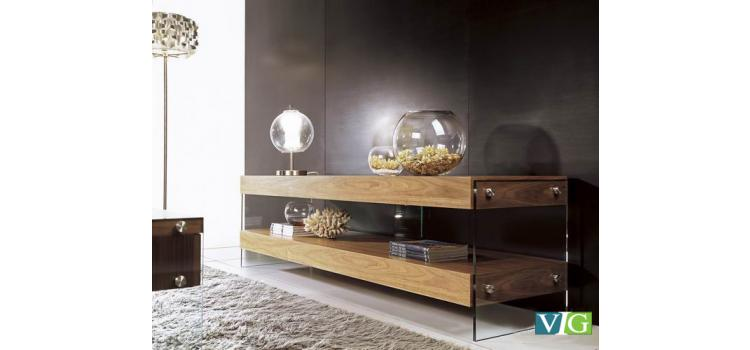 Contemporary Walnut TV unit
