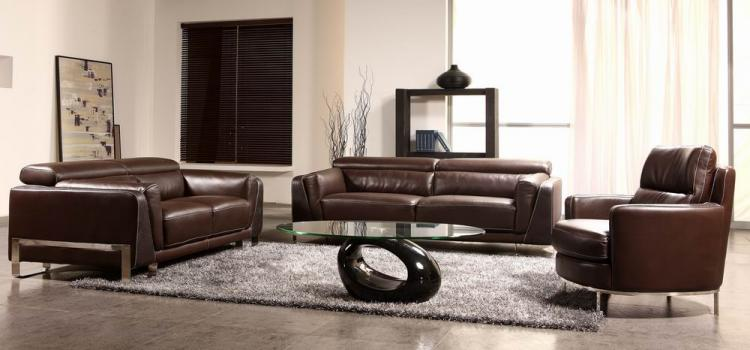BO3946 - Espresso Leather Sofa Set