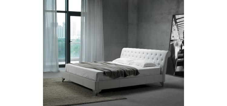 San Remo Leatherette Modern Bed