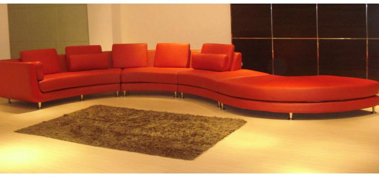 A94 Red - Contemporary Sectional Sofa