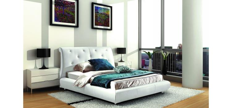 B811 - Transitional Eco-Leather Bed