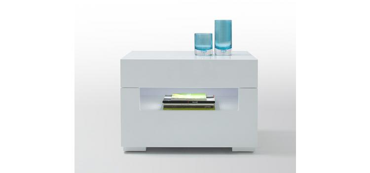Modern White Lacquer Nightstand