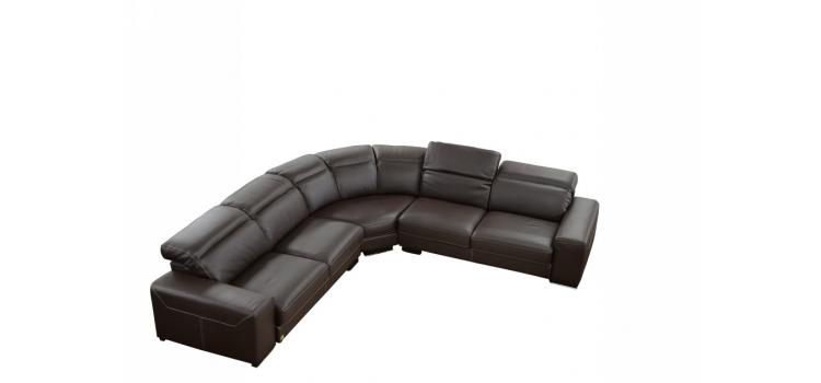Dima Salotti Made in Italy Brown Sectional Sofa - Nadir