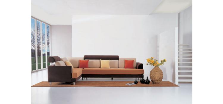 F37 Contemporary fabric sectional sofa