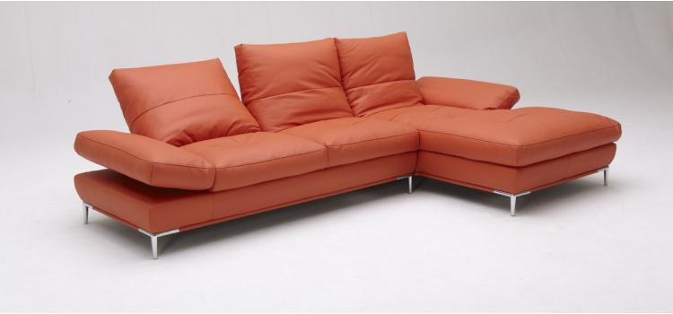 Dahlia (1307) Orange Sectional Sofa Set