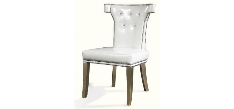 Armani White Leather Dining Chair