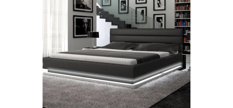 Infinity - Contemporary Platform Bed with Lights