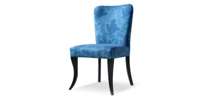 305 - Teal Fabric Side Chair
