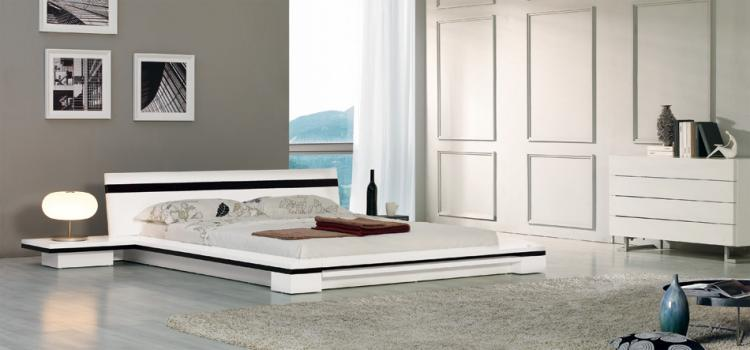 Sonata - Platform Bed in White