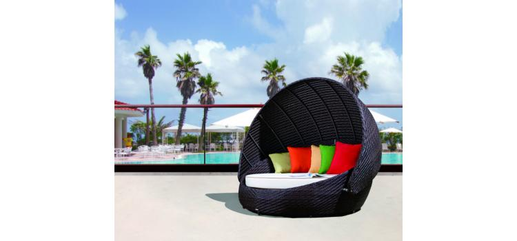 RB-016 Outdoor Round Day Bed With Canopy