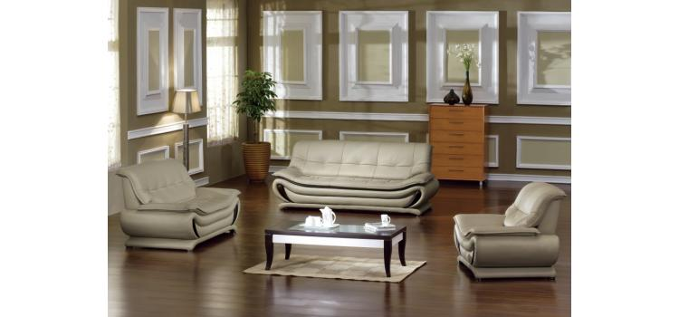 2801 - Bonded Leather Sofa Set