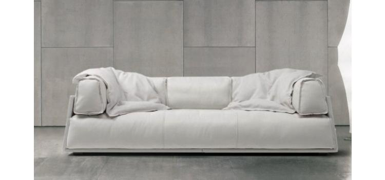 Iris - Modern Fabric Sofa in White