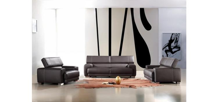 Bella Italia Leather 171 Sofa Set in Black Cat. 3