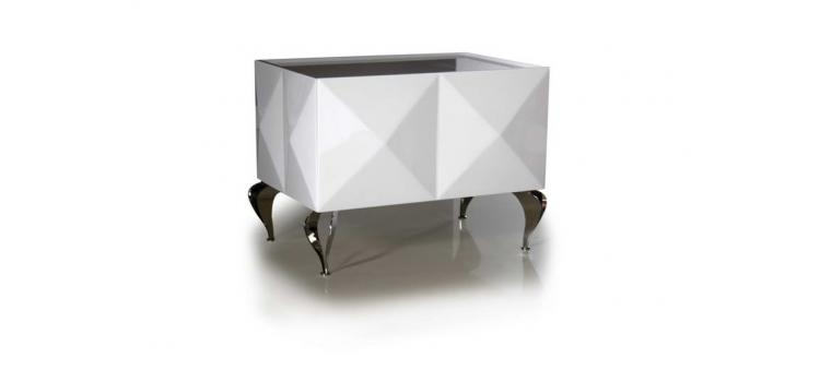 Eva - White Lacquer Night Table