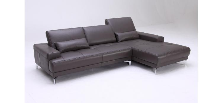 Spirea (1329) Modern Leather Sectional Sofa