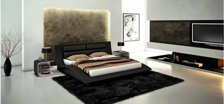 J212 - Contemporary Eco-Leather Bed