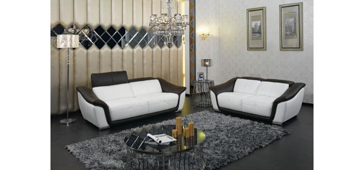 Modern Leather Sofa Set - 9566