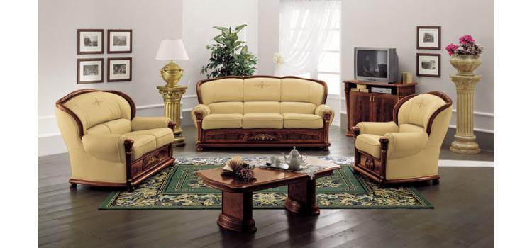 Klassica - Classic Italian Leather Sofa Set