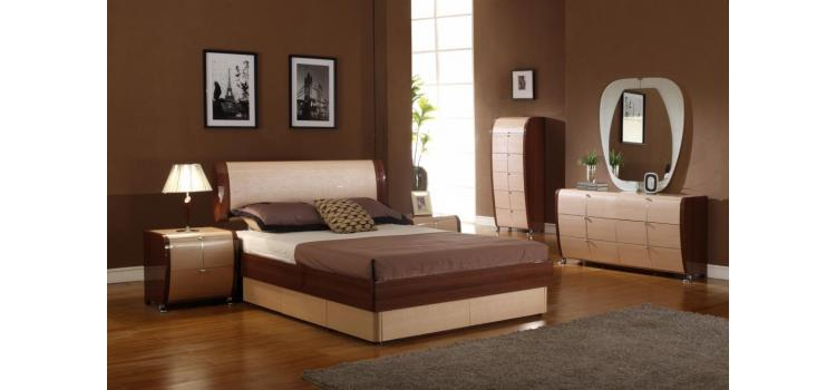 Maya Modern Lacquer Bed Group