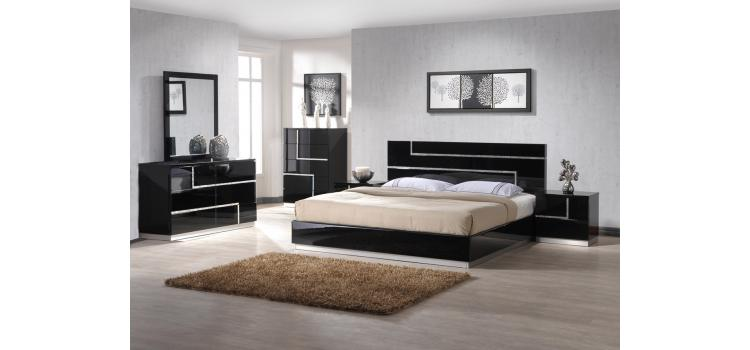 Moda - Contemporary Black Bedroom Set