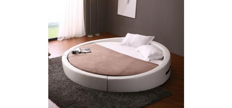 Opus - Modern Round Leather Bed