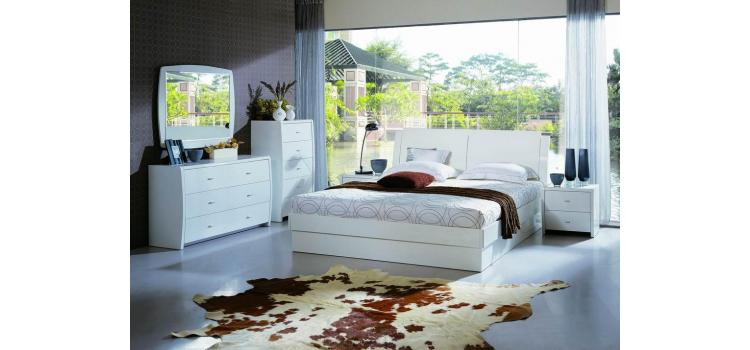 Palermo White Bed Group with Storage