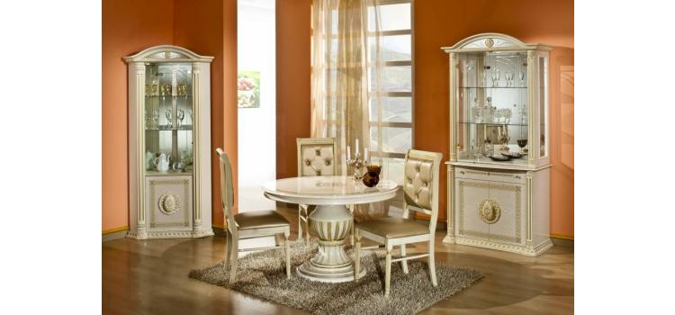 Rossella Beige - Round Extend-able Dining Table Made in Italy