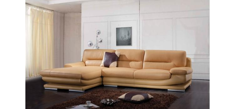 Modern Camel Sectional Sofa - 2755