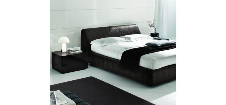 Strip GL.01 (Dk. Brown)- Bed - Made in Italy