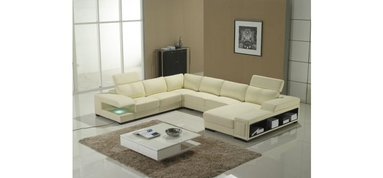 T132 -Leather  Sectional Sofa Set