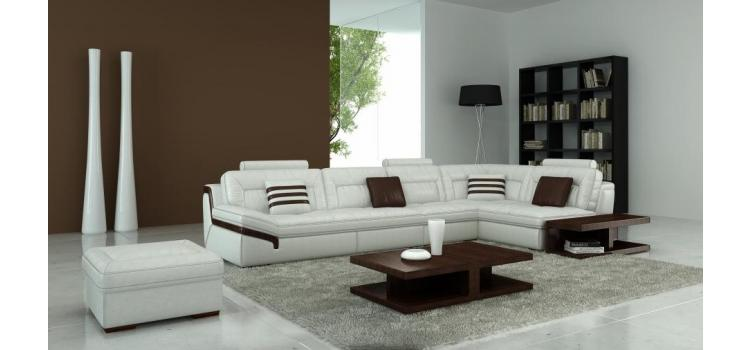 T181 - Modern Leather Sectional Sofa
