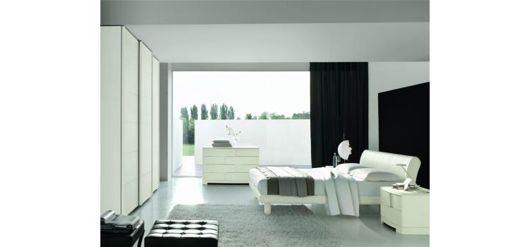 Trendy White Ash Bed - Made in Italy