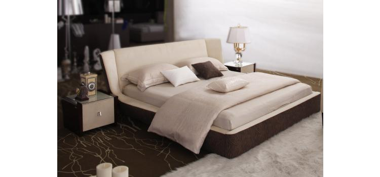 Troy Luxury Leather Bed