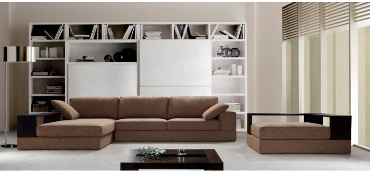 Anthem - Brown Fabric Sectional with Ottoman