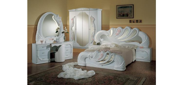 Vanity White - Italian Classic Bedroom Set