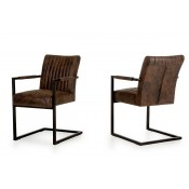 Modrest Marfa Modern Cognac Dining Arm Chair