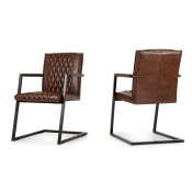Lipan - Modern Cognac Dining Arm Chair (Set of 2)