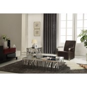 Modrest Bamboo Contemporary Stainless Steel Coffee Table