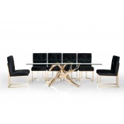 Modrest Legend Modern Glass & Gold Dining Table