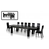 Modrest Maxi Modern Black Oak Dining Table