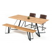 Nova Domus Pisa Modern Drift Oak Dining Table