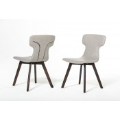 Zach - Modern Grey Eco-Leather Dining Chair (Set of 2)