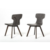 Zach - Modern Dark Grey Eco-Leather Dining Chair (Set of 2)