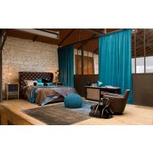 Modrest 1101 Neoclassical Brown Bonded Leather Bed