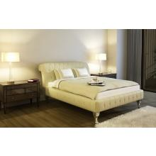 Modrest 1102 Neoclassical Beige Bonded Leather Bed
