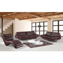 Divani Casa Boco - Modern Espresso Leather Sofa Set