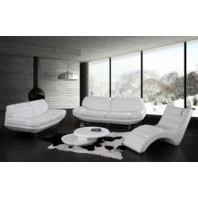 Divani Casa Boco - Modern White Leather Sofa Set
