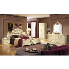 Modrest Barocco Ivory Italian Classic 5-Piece Bed Set Cal. King Only